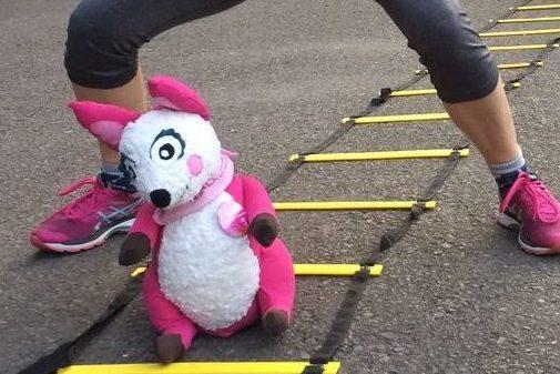 Polly Pink beim LAUFMAMALAUF-Kurs